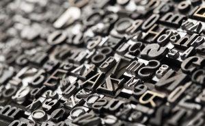 ungeordnete Bleibuchstaben